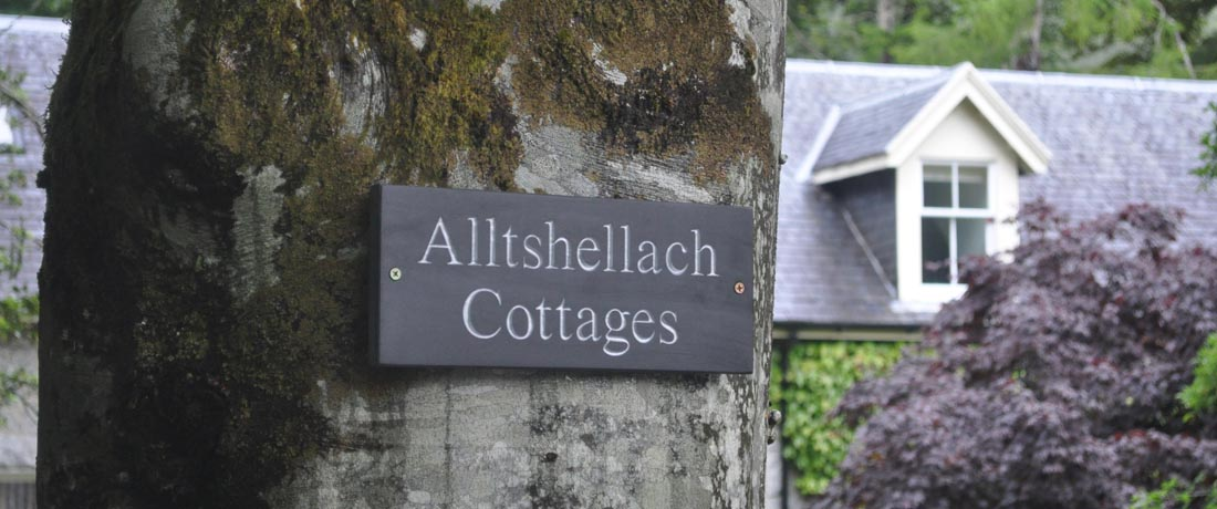 Holiday cottages, Glencoe, Ballachulish, Fort William, Scottish Highlands, Scotland